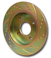 Image of an EBC 3GD gold anodised Solid Sports Disc Rotor